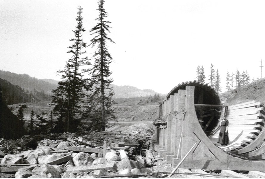 Condit Hydro Project Under Construction