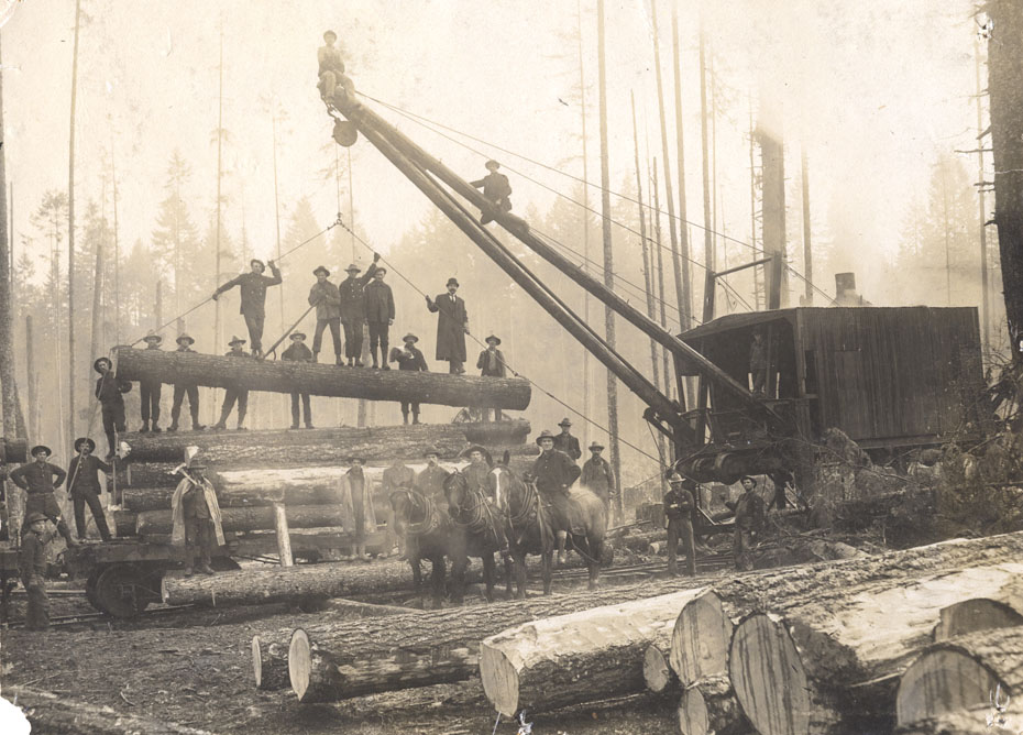 Loading Logs Near Dee