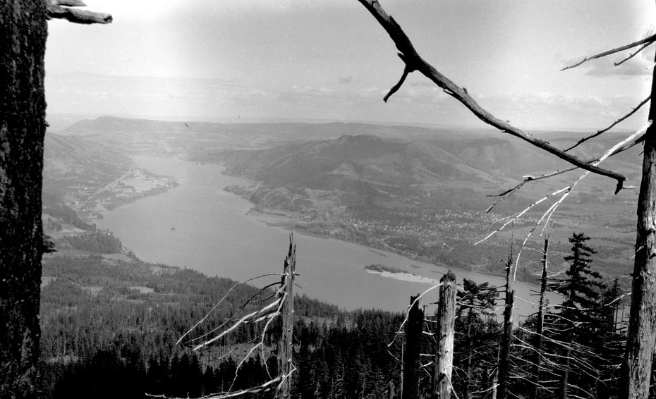 Hood River From Underwood Mountain, Circa 1915