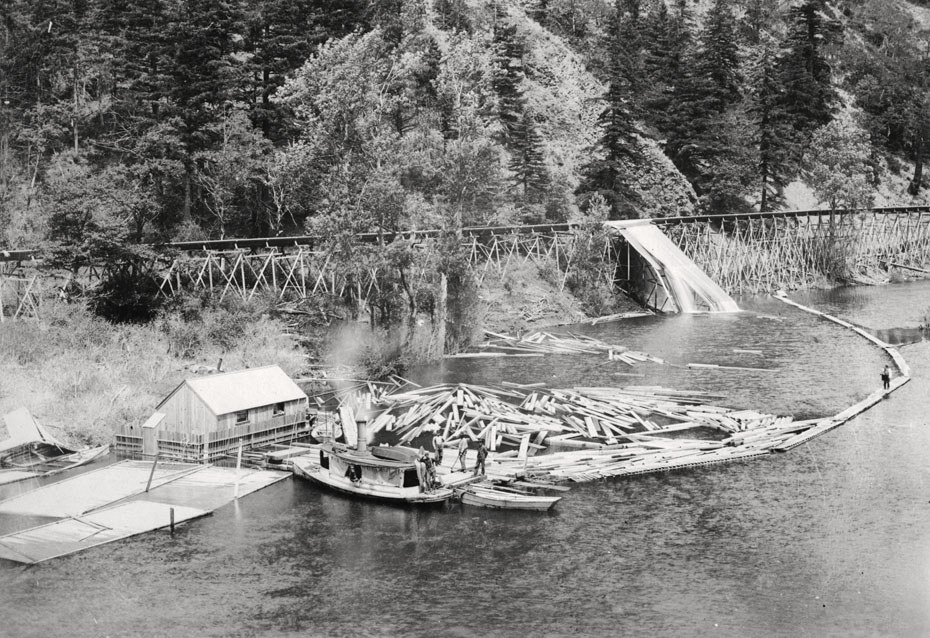 End of the flume historic hood river images from