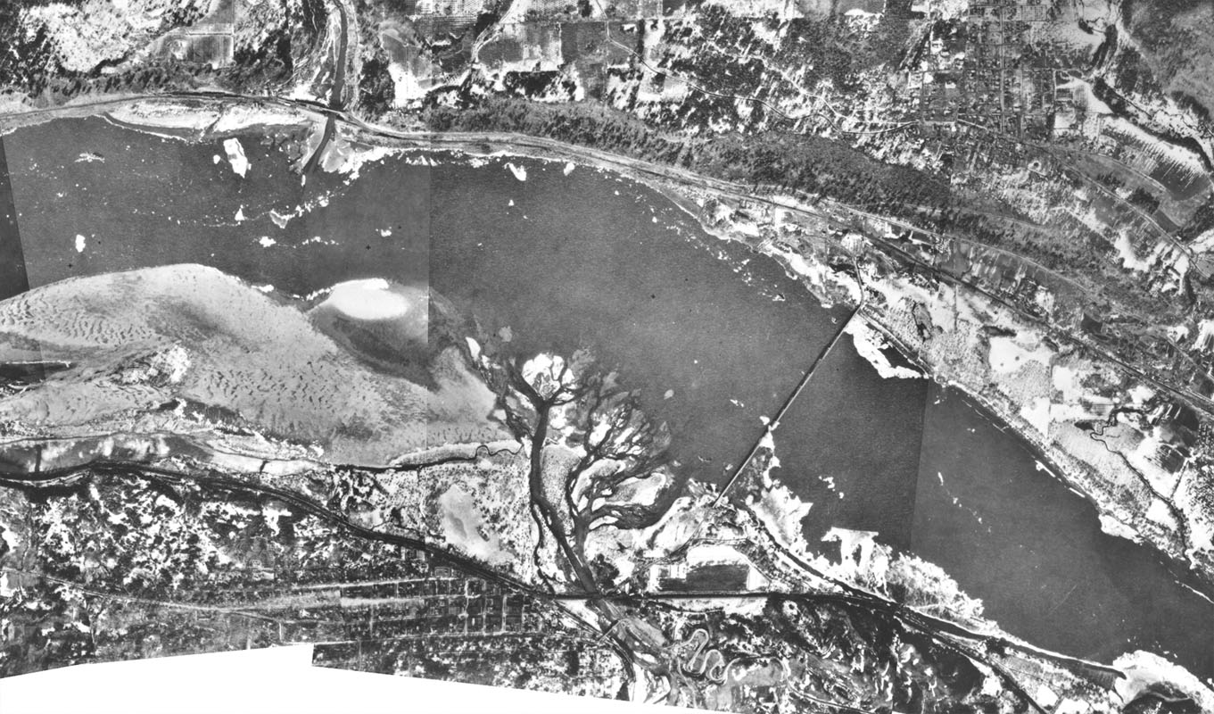 Hood River and White Salmon Aerial Composite, 1930s
