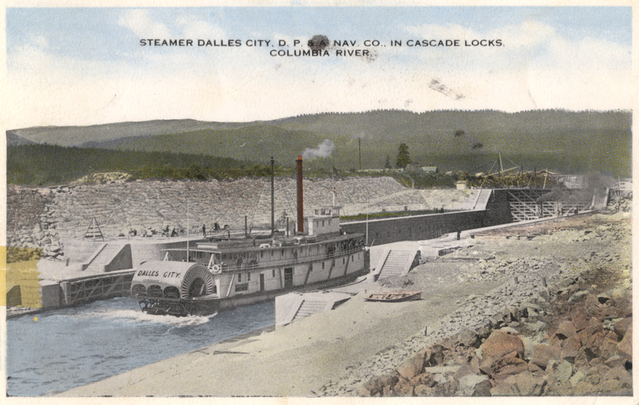 Steamer Dalles City at Cascade Locks