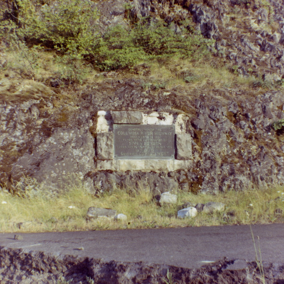 Columbia River Highway Dedication Plaque