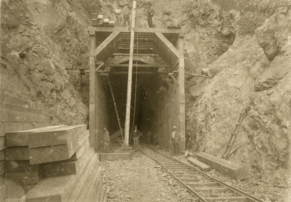 Timbering Rail Tunnel