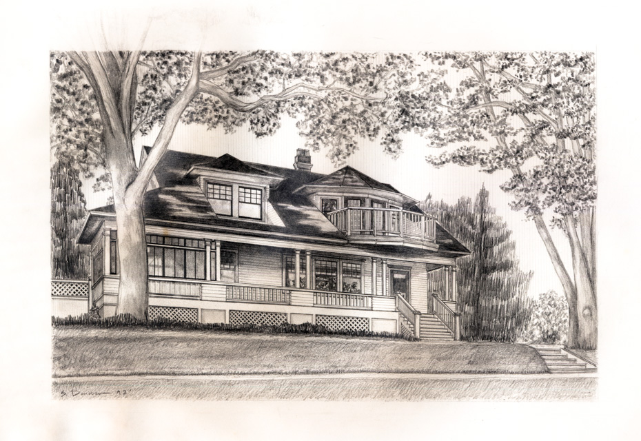 Dethman House Sketch by Sally Donovan