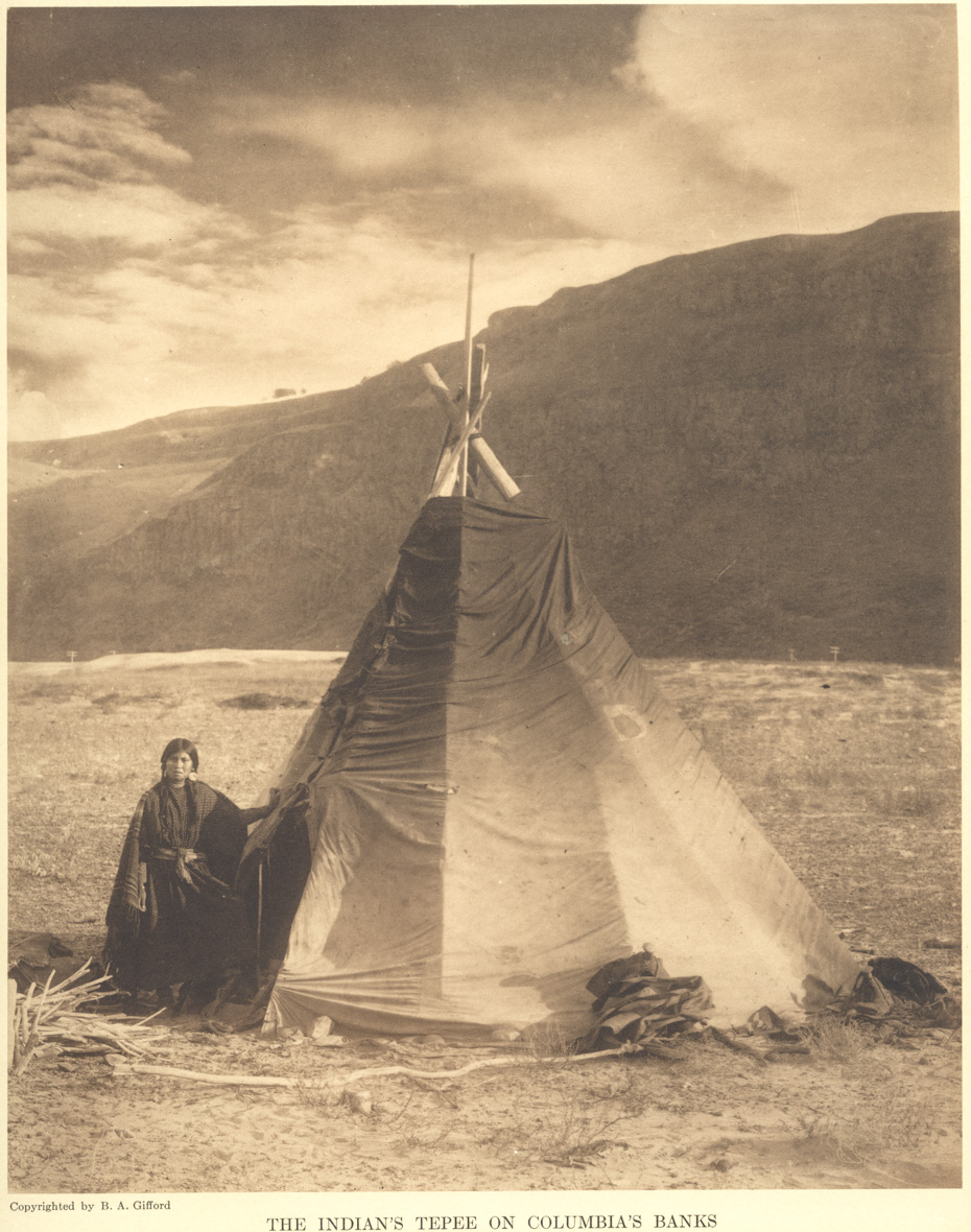 Teepee on the Shores of the Columbia